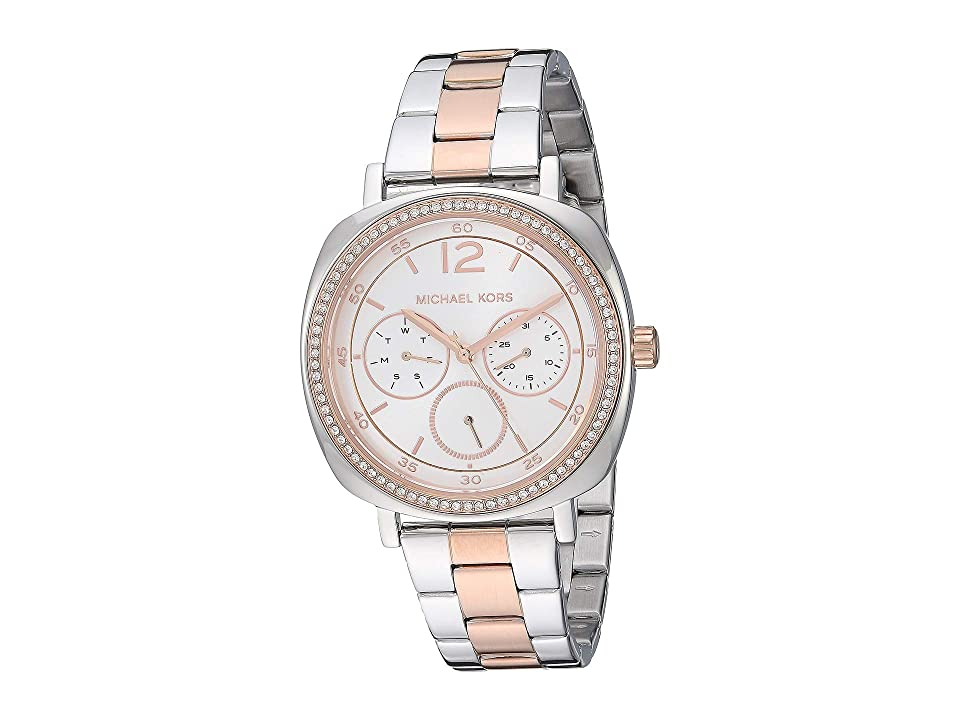 Michael Kors MK3966 - Cushion Case Classic (Two-Tone/Silver) Watches