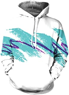 RAISEVERN Unisex 3D Printed Pullover Long Sleeve Fleece Hooded Sweatshirts with Pockets