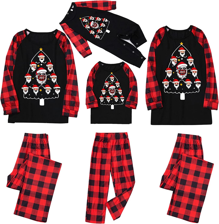Family Sleepwear Matching Christmas Loungewear Household 2 Piece Sets Casual Print Long Sleeve Outfits Winter Pajamas