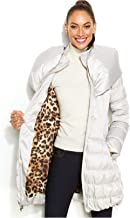Laundry by Shelli Segal Women's Gray Belted Down Puffer Coat