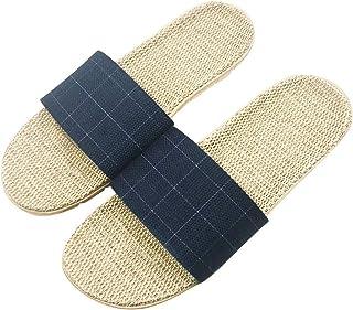 [Wakind] レディース メンズ ルームシューズ 夏春 スリッパ 室内履き 静音で軽量 麻 可愛い 滑り止め 来客用