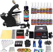 Solong Tattoo Complete Starter Tattoo Kit 1 Pro Machine Guns 14 Inks Power Supply Foot Pedal Needles Grips Tips TK102