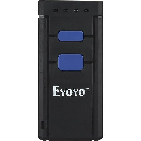 Lettore di codici a barre wireless Eyoyo lettore di codici a barre 2D cablato USB e wireless 2.4G portatile QR PDF417 Data Matrix Scansione schermo Rilevamento automatico Lavora con PC