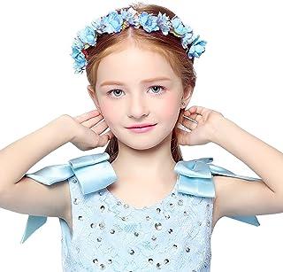 dressfan diadema de guirnalda de flores con cinta ajustable