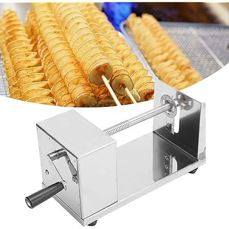 Ochenta patata vegetal manual rodillo espiral cortador de verduras espiralizador de acero inoxidable Magic Roller Spiral Slicer r/ábano patata espiral cortador cortador de