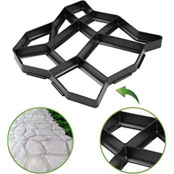 Molde para suelo de hormigón o cemento | Plantilla de piedras para estampado de suelo exterior: camino, porche, patio, jardín y terraza | Patrón de bricolaje para hacer pavimento impreso adoquinado: Amazon.es: