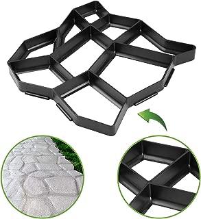 de Pl/ástico Resistente Molde para Hormig/ón 45X40X4cm Molde para Hacer Pavimentos//Caminos//Suelos de Jard/ín Molde para Cemento Terraza Balc/ón Patio