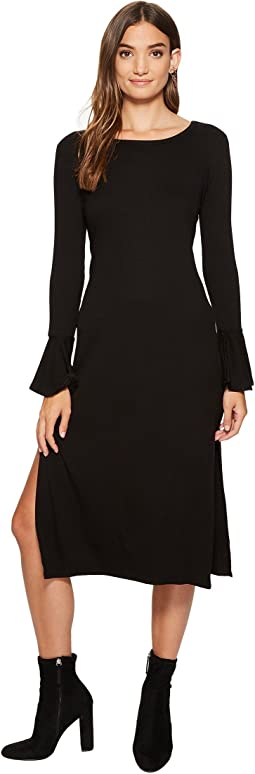 1.STATE - Long Sleeve Maxi Dress w/ Ruffle Cuff