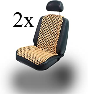 Holzperlen Sitzauflage mit Massage Komfortable Lordosenst/ütze ANJIN Sommer universal Atmungsaktiv Gem/ütlich Auto Sitzbezug