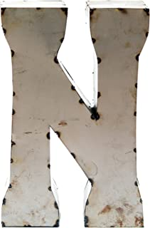 Rustic Arrow Letter N for Decor, 14-Inch, Silver