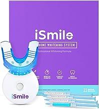 کیت سفید کننده دندان iSmile - چراغ LED ، 35٪ کاربامید پراکسید ، (3) سرم ژل 3 میلی لیتر ، (2) ژل Remineralization و سینی