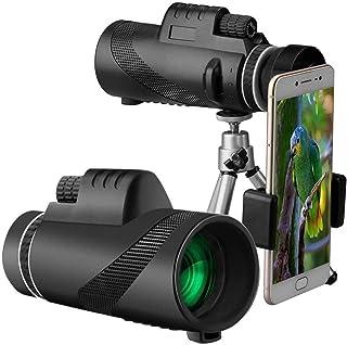 Monocular Telescope 40X60 High Power Monocular BAK4 Prism FMC Lens Waterproof Telescope with Smartphone Holder & Tripod - ...