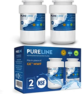 GE MWF Water Filter Replacement. Compatible GE Models: MWF, MWFA, MWFP, MWFAP, MWFINT, GWF, GWFA, HWF, HWFA, FMG-1, SmartWater, GSE25GSHECSS, 197D6321P006 -by PURELINE (2 Pack)