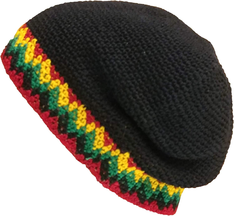 BLACK Crochet Beanie Unisex Hat