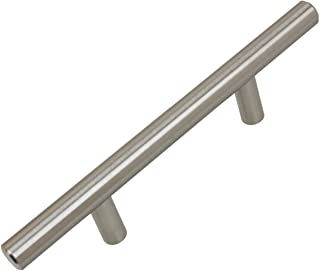 "GlideRite Hardware 5000-76-SS-25 3 inch CC Stainless Steel 6.125 inch Long Solid Handle Bar Pulls 25 Pack, 3"", Finish"