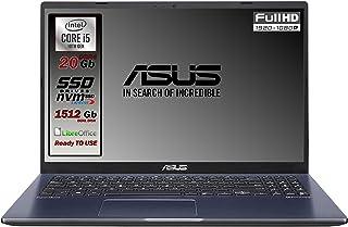 Asus Vivobook SLIM, SSD M.2 da 512 Gb + 1TB, Cpu Intel i5 di 10th GEN. 4 Core, 20Gb DDR4, Display da 15,6 FULL HD, wi-fi, ...