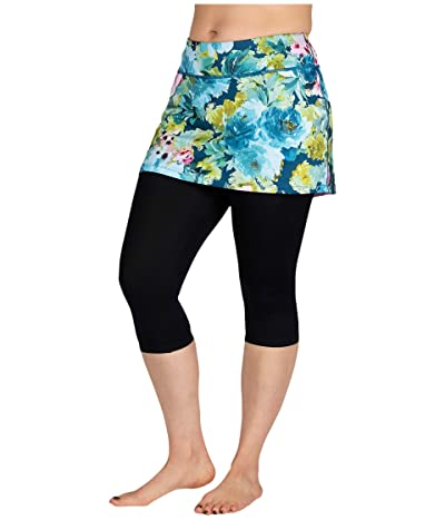 Skirt Sports Lotta Breeze Capri (Vacay Print/Black) Women