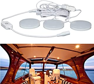 RV Ceiling Light 12V, Boat Ceiling Light 3 Pack, 5W LED Recessed Cabinet Lights, Dimmable Warm White LED Interior Light fo...