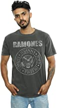 Absolute Cult Ramones Men's Distressed Presidential Seal Washed T-Shirt