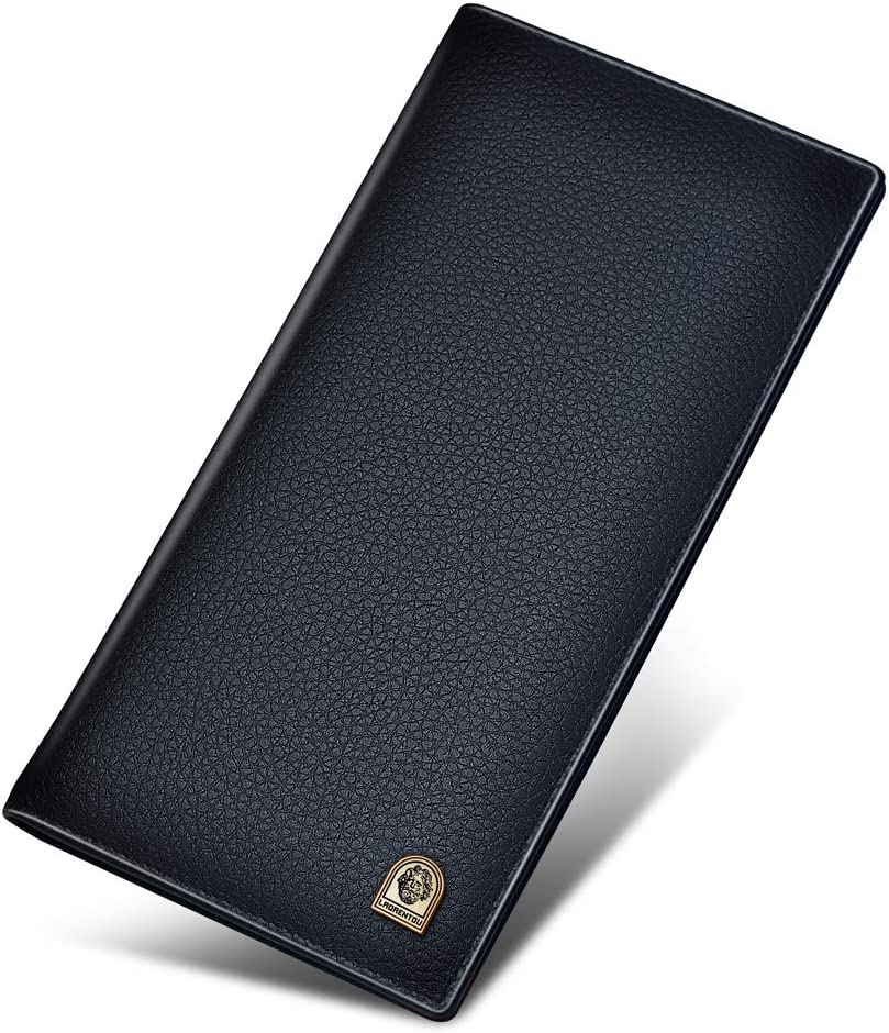 Bifold Leather Wallets for Men Some reservation Box Cow Regular store Pac Gift Genuine