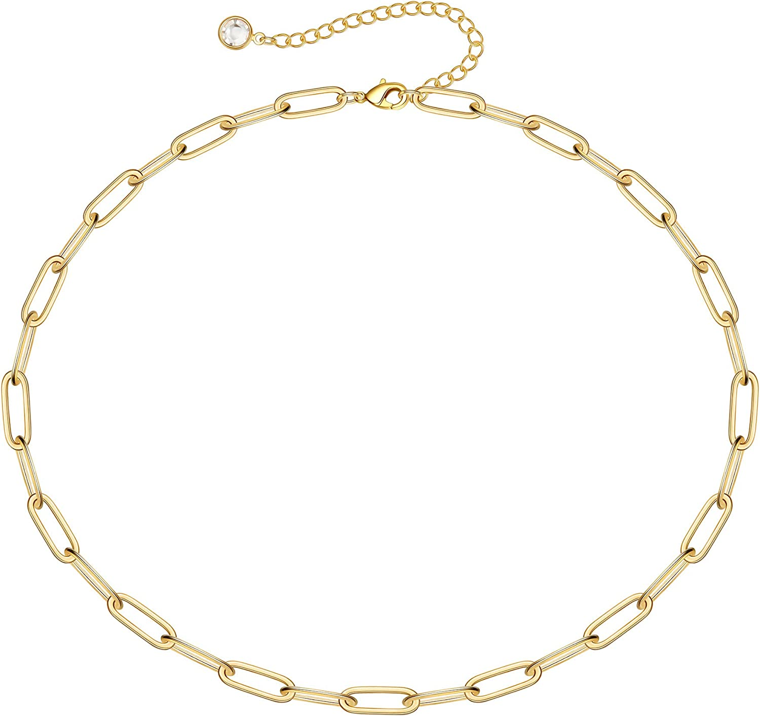 Turandoss Dainty Gold Choker Necklaces for Women - 14K Gold Plated Handmade Medallion Snake Link Chain Cross Star Moon Adjustable Simple Choker Necklaces for Women Jewelry
