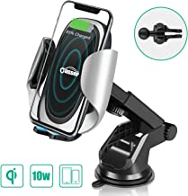 Oasser Wireless Car Charger 10W/7.5W Fast Charging Car Phone Holder Air Vent Dashboard Windshield with Adjustable Coil for iPhone Xs/Xs Max/XR/X/8/8P Samsung Galaxy S10/S10+/S9/S9+/S8/S8+