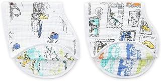 スタイ ベビー ディズニー お食事 【 日本正規品 aden + anais バーピービブ 2枚 セット くまのプーさん モスリンコットン 100%使用 】 離乳食 赤ちゃん DISN280J