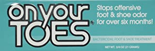 On Your Toes Foot Bactericide Powder - Eliminates Foot Odor for Six Months, 3/4 oz - Two Pack