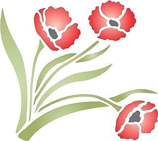 Best poppy flower stencil Reviews