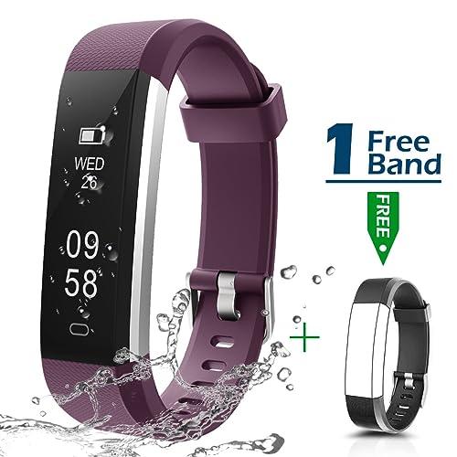 CHEREEKI Fitness Tracker, Montre Connectée Tracker d'Activité IP67 Étanche Smartwatch Bracelet Bluetooth Podomètre avec Moniteur de Sommeil/Step Tracker/Compteur de Calories pour Android iPhone