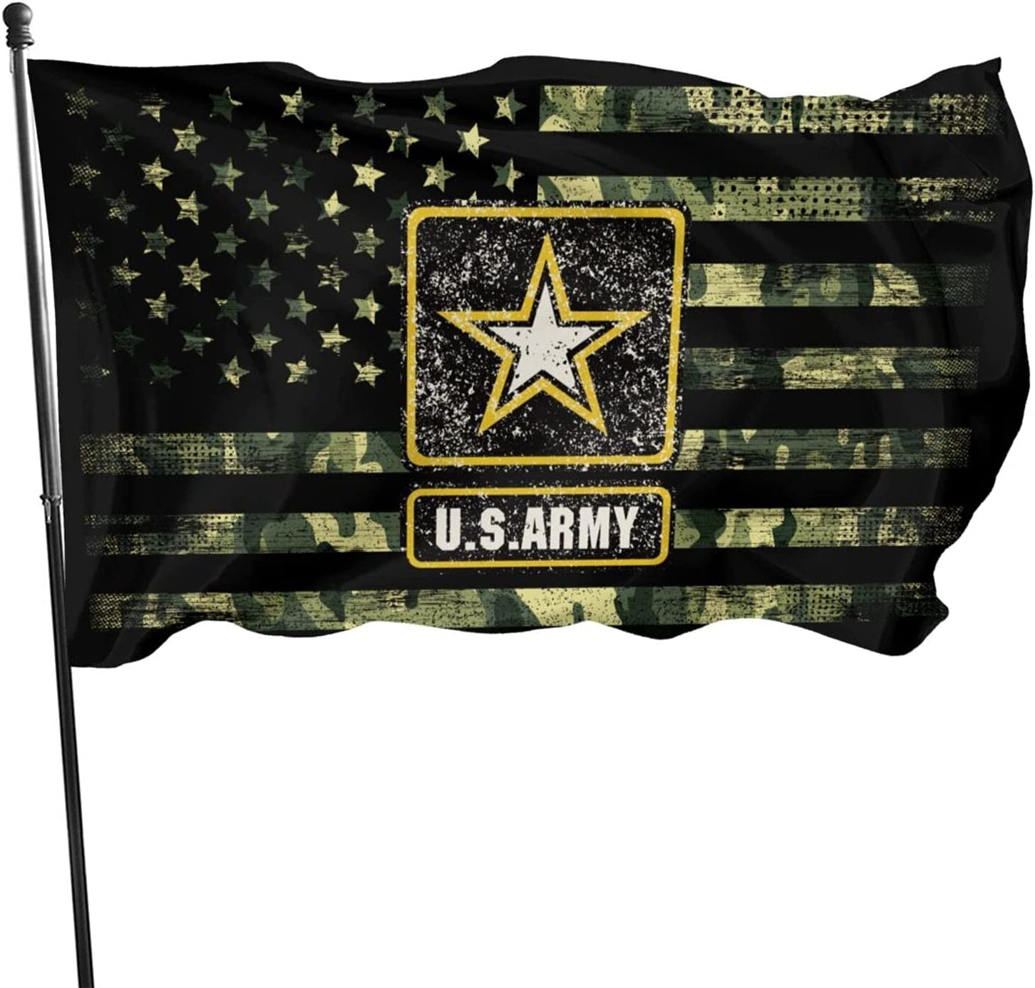 US Army Flag 3x5 Ft, Fade Proof Outdoor Breeze Flag Garden House Home Decor Double Stitched United States Military Flags with Metal Grommets(Green)