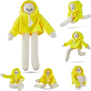 Skylety Banana Doll Man Plush Banana Toy Man with Magnet Changeable Plush Pillow Toy Man Doll Decompression Toy Stuffed Do...