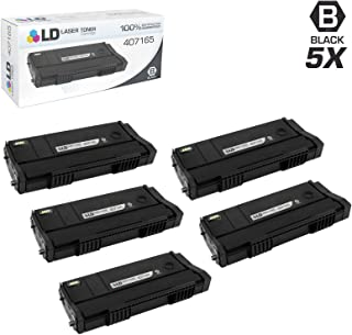 LD Compatible Toner Cartridge Replacement for Ricoh 407165 SP 100LA (Black, 5-Pack)