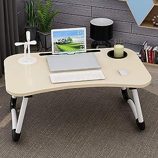 RANRANHOME Multifunktionell laptop sängbord, hopfällbart laptopbord, bärbar bärbar bärbar bärbar dator sängbricka, laptop ...