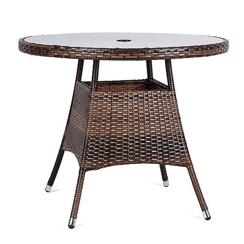 Groovy Rattan Garden Table Amazon Co Uk Home Interior And Landscaping Mentranervesignezvosmurscom
