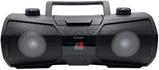 SYLVANIA SRCD1075BT Bluetooth Portable CD Radio Boombox with LED Lighting
