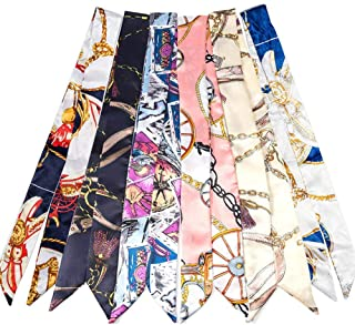 2/6/10Pack Scarf Bags for Women Handbag Scarfs Band Hair Neck Scarves Fashion Gifts