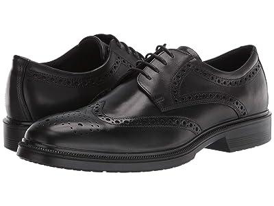 ECCO Maitland Brogue Tie (Black) Men