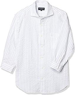 (マックレガー) McGREGOR 7分袖ドビーストライプカッタウェイ衿シャツ
