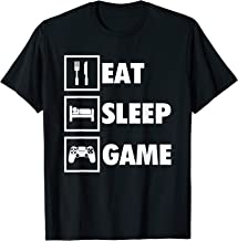 Eat Sleep Game Funny Gamer T-Shirt For Video Game Players