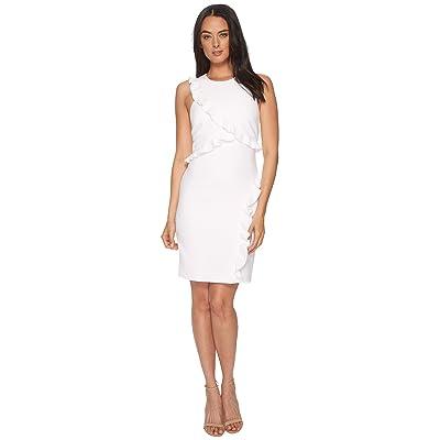 Nicole Miller Ruffle Dress (White) Women