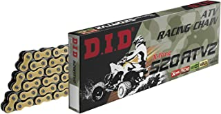 D.I.D Oro/Nero DID 520ATV2-100 Gold 100 High Performance X-Ring ATV Chain with Connecting Link