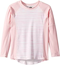 Sweet Pink Stripe Rashguard (Infant/Toddler/Little Kids/Big Kids)