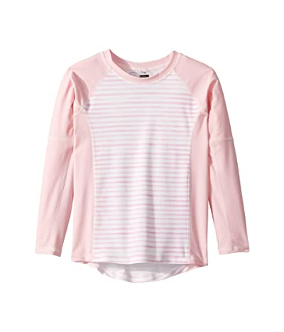 Toobydoo Sweet Pink Stripe Rashguard (Infant/Toddler/Little Kids/Big Kids) (Pink) Girl