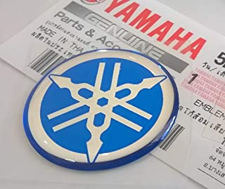 Yamaha 5HV-F3108-09-BU - Genuine 30MM Diameter Yamaha Tuning Fork Decal Sticker Emblem Logo Blue Raised Domed Gel Resin Self Adhesive Motorcycle / Jet Ski / ATV / Snowmobile