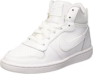 NIKE Boys' Court Borough Mid Print (GS) Basketball Shoe