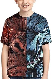 Godzilla Vs King Kong Novelty Boys T-Shirt Fashion Pattern 3D Print Short Sleeve Youth Tee Shirts