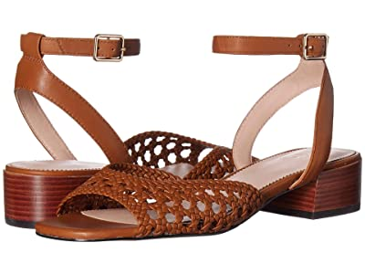 J.Crew Alice Braided Sandal with Stacked Heel (Burnished Pecan) Women