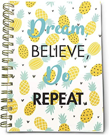 """Bright Day Calendars to-Do List Bounded Undated Daily Planner Notebook - 6.25"""" x 8.25"""" (Pineapple)"""