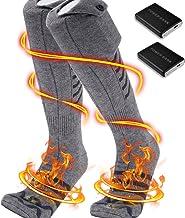 PBOX Heated Socks, Electric Heating Socks with 5000mAh Rechargeable Battery,Foot Warmers Socks,Heated Socks for Hunting/Ca...